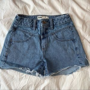 light blue Garage womens jean shorts